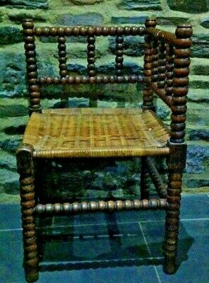 Antique Bobbin CHAIR Corner Chair ARTS AND CRAFTS BOBBIN TURNED CHAIR