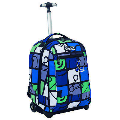 Big Trolley Appack ICON SET Blu Verde 2in1 uso Zaino con spallacci a scomparsa