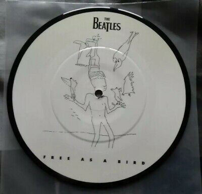 """THE BEATLES 7"""" Picture Disc - FREE AS A BIRD. Super Rare!!"""