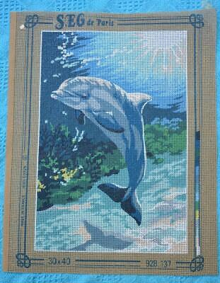 Tapestry Canvas. SEG de Paris DOLPHIN. Made in France Creation Code #928.137
