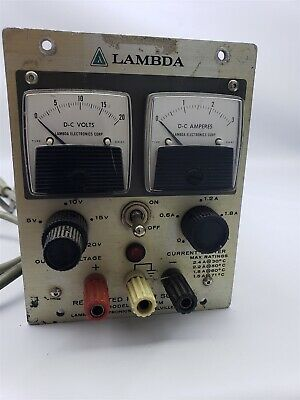 Lambda 0-20VDC 2.4a Power Supply LH-121 FM Bench Supply - Works Great.