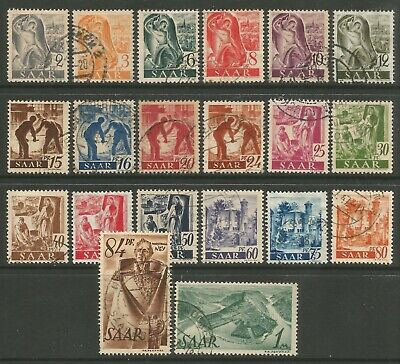 STAMPS-GERMANY-SAAR. 1947. French Occupation Set. SG: 203/22. Fine Used.