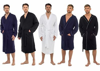 Mens Undercover Soft Cotton Lightweight Dressing Gown Bath Robe Waffle or Jersey