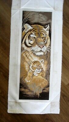 Lanarte Linen Completed Counted Cross Stitch Unframed Picture Maternal Instincts