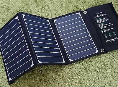 RAVPower solar charger panel 16W 2port folding for Smartphone Tablet F/S w/Track