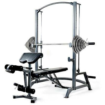Marcy SM1050 Smith Machine Multi Gym with 140kg Olympic Weight Plate Set