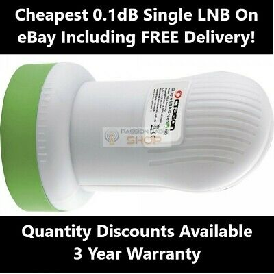 SINGLE Premium High Quality 0.1 dB Full HD 3D 4K LNB FREESAT ASTRA HOTBIRD SKY