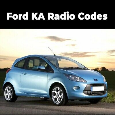 Ford Ka Radio Unlock Code| Quick service | Official Ford