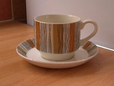 Midwinter 'Sienna' CUP/SAUCER Duo, retro, Shabby, Chic vintage