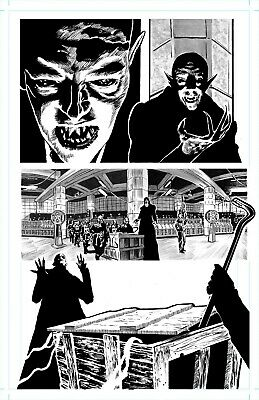 The Iron Skull' Page 3 - Original Art By Rob Moran