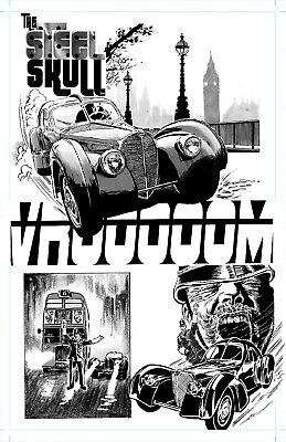 The Iron Skull' Page 4 - Original Art By Rob Moran