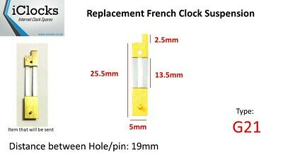 Brass French Clock Pendulum Suspension Spring. (25.5mm x 13.5mm x 5mm)  (G21)
