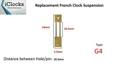 Brass French Clock Pendulum Suspension Spring (24mm x 10.5mm x 5.5mm)  (Type G4)