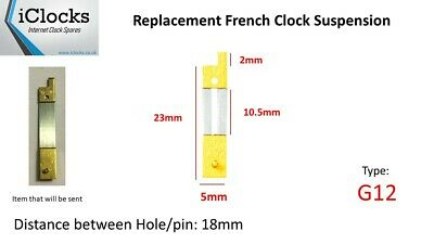 Brass French Clock Pendulum Suspension Spring. (23mm x 10.5mm x 5mm)  (Type G12)