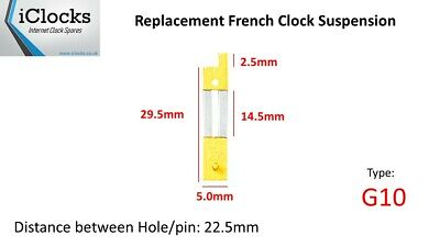 Brass French Clock Pendulum Suspension Spring. (29.5mm x 14.5mm x 5mm)  (G10)