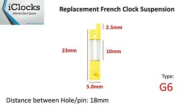 Brass French Clock Pendulum Suspension Spring. (23mm x 10mm x 5mm)  (Type G6)