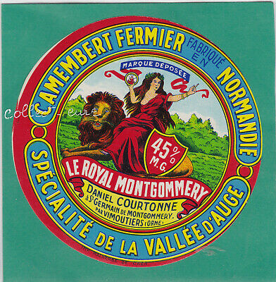 M202  Fromage Camembert Saint Germain Montgommery Vimoutiers Orne Calvados Lion
