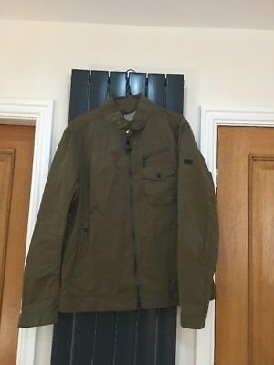 Clothing, Shoes & Accessories Barbour A7 Cost £229 Waterproof Breathable Lightning Gold Mens Green Jacket Xl