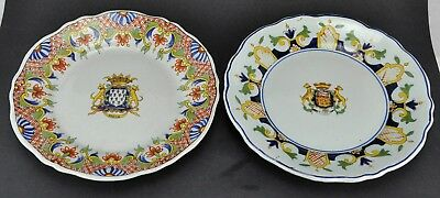 Pair of Antique Armorial Plates with European Coat of Arms. Marke (BI#MK/180128)