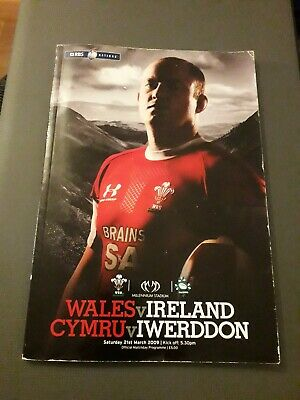 2009-Wales V Ireland-Grand Slam-Six-6 Nations-International-Rugby Programme-Good