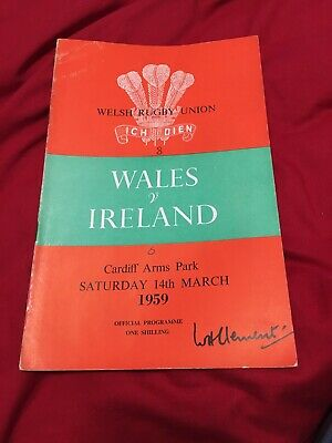 1957-Wales V Ireland-Five Nations-Rugby Union Programme-Good