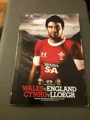 2009-Wales V England-Six-6 Nations-International-Rugby Union Programme-Good