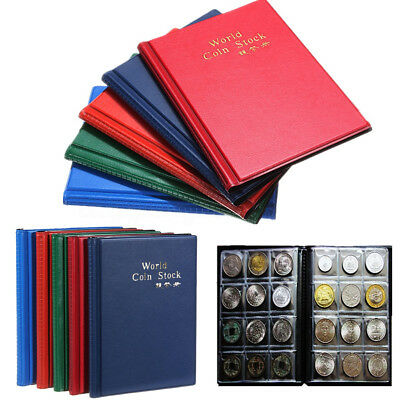 10 Pages 120 Coin Collections Holder Pocket Money tokens Storage Album Book