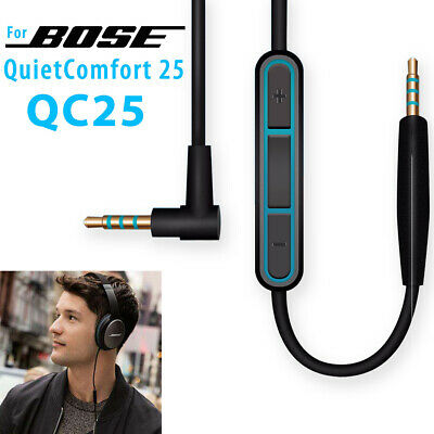 Cable Remote Mic For Bose QuietComfort QC25 QC15 QC2 AE2 Headphone Android Phone