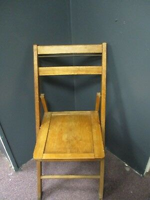 Pair Of Vintage/Antique Wood Folding Chairs