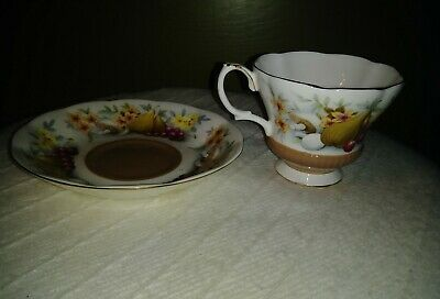 Royal Albert Bone China Tea Cup & Saucer England Country Fayre Series Devon MINT