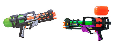 "Twin Pack 2 x 23"" Large Pump Action Water Gun Pistol Summer Super Soaker Handgun"