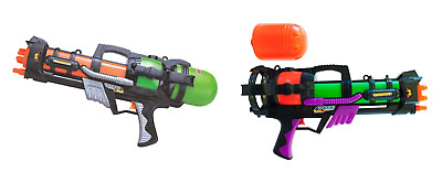 "Duo Pack 2 x 23"" Large Pump Action Water Gun Pistol Summer Super Soaker Handgun"