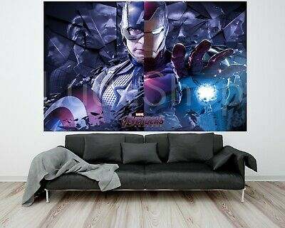 "Avengers End Game Poster Iron Man Captain America Art Print 32x48"" 27x40"" 24x36"""