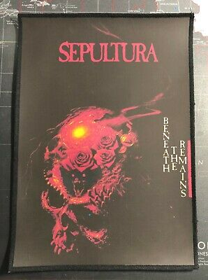 Sepultura Beneath The Remains Medium Printed Back Patch S078P Slayer Obituary
