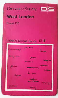 Vintage West London Ordance Survey Map Sheet 176 Second Series 1974