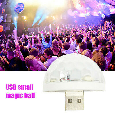USB Small Magic Ball Phone LED Colorful Neon Light Laser Stage Party Bar Lamp 3W