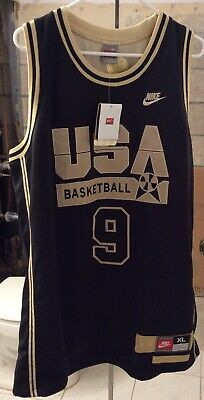 a594bbb97707 Nike Michael Jordan USA Dream Team Basketball Black and Gold Jersey XL New  Tags