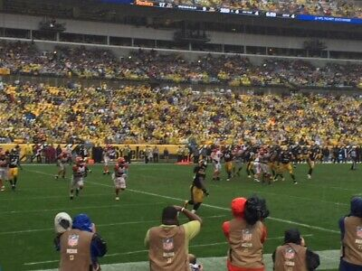 FRONT ROW 106 2 Tickets Pittsburgh Steelers vs Buffalo Bills AISLE SEATS Row A