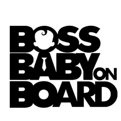 Boss Baby On Board Funny Car Decals Sticker