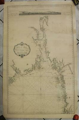 Jomfruland Oslo Norway 1817 Wall Kaart Archiv Antique Blueback Sea Chart