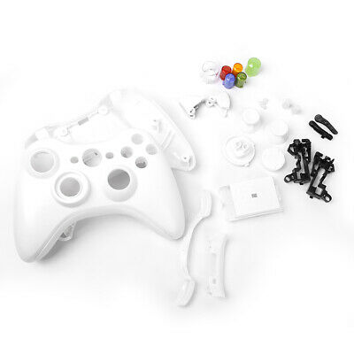Full Housing Shell Case Kit Replace for Xbox 360 Wireless Controller White