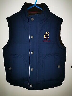Crew Polo Team Boys Puffer Vest Size 5-6 Years