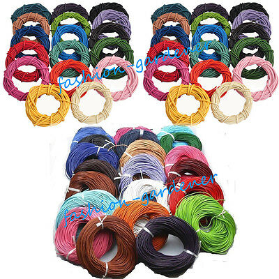 Wholesale 3 M Real Leather Necklace Charms Rope String Cord 1.5 2.0 mm Any Color
