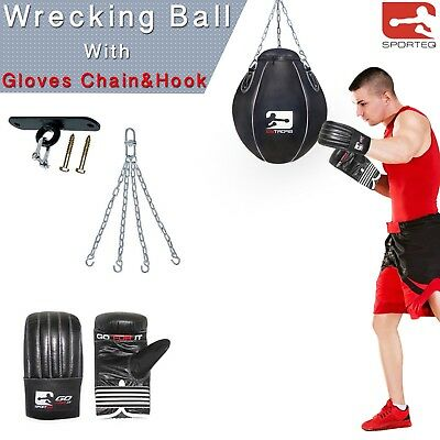 Sporteq® Maize Punch Bag & Maiz Wrecking Ball Exercise Training MMA Martial Arts