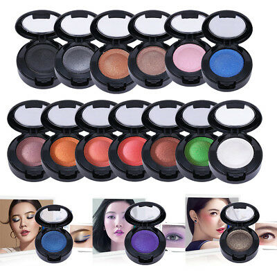 1PC Smoked Pearlescent Waterproof Monochrome Double Eye Shadow Single Color New