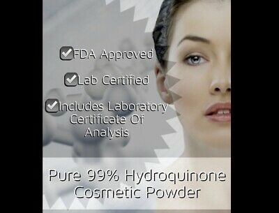 Pure 99.85% Hydroquinone Powder Cosmetic Skin Whitening Brightening