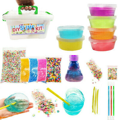 DIY Slime Kit Supplies Clear Crystal Slime Making Kit For Kid Girls Floam Slime