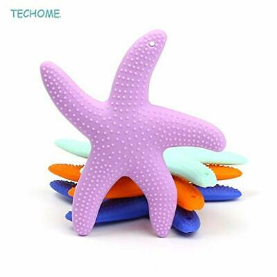 2Pcs lot Baby Toothbrush Starfish Shaped Silicone Baby Teether Infant Chewing