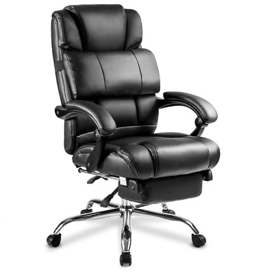 High-back Recliner Computer Gaming Chair Racing Seat Footrest Swivel Office Desk