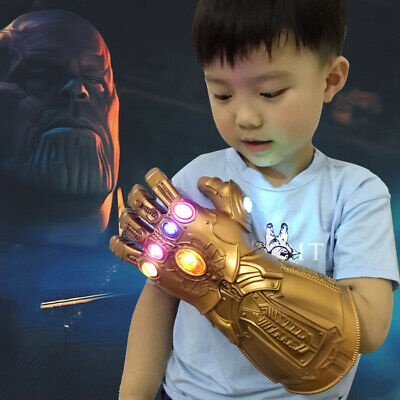 Thanos Infinity Gauntlet LED Light Gloves Kid Avengers Cos Costume Props